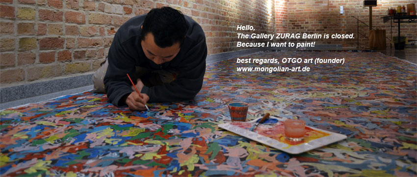 The Gallery ZURAG Berlin is closed. Because I want to paint.